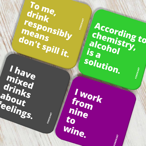 Alcohol Chemistry Coaster Set of 4