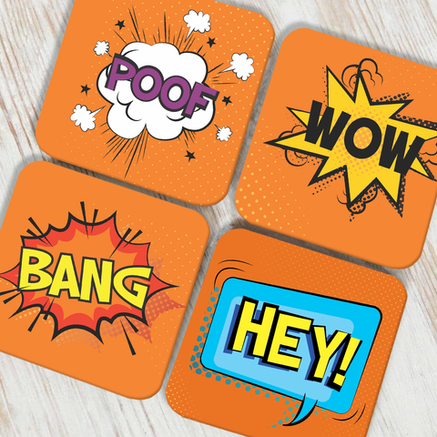 Emoticons 2 Coaster Set of 4