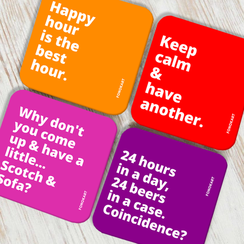 Happy Hour Coaster Set of 4
