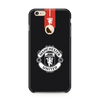 Manchester United Black Case for iPhone 6/6S(Round Cut)