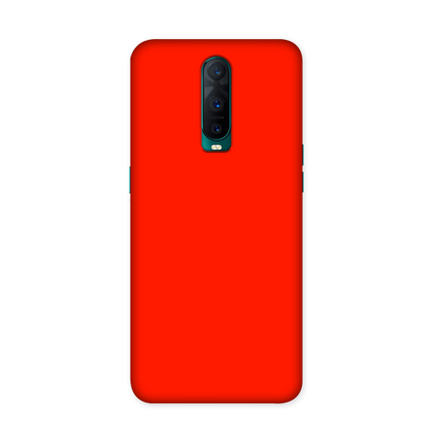 Solid Red Color Case for Oppo R17 Pro