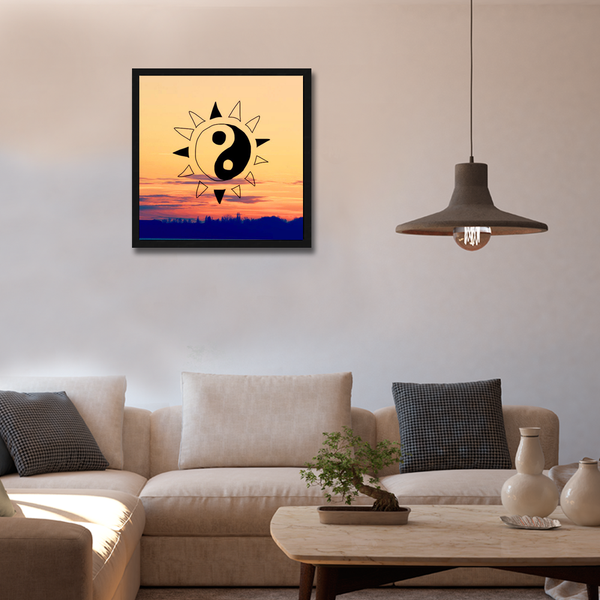 Karma Framed Wall Art - Square