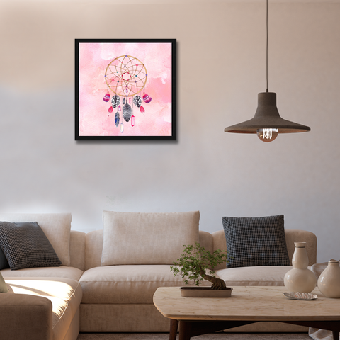 Dreamcatcher Hovic Framed Wall Art - Square