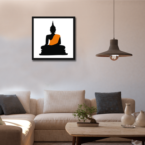 Buddha Framed Wall Art - Square