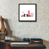 London Framed Wall Art - Square