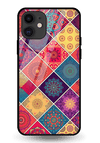 Indian Art 2 Glass Case for iPhone 11