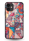 Indian Art 3 Glass Case for iPhone 11