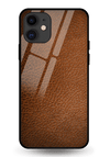 Coono Leather Texture Glass Case for iPhone 11