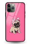 Pinky Pug Glass Case for iPhone 11 Pro