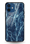 Blue Marble Glass Case for iPhone 12 Mini