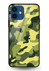 Classic Camouflage Glass Case for iPhone 12 Mini