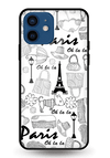 Paris Doodle Glass Case for iPhone 12