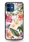 Zingy Flowers Glass Case for iPhone 12