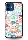 Visa Stamps Glass Case for iPhone 12 Mini