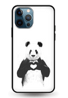 Panda in Love Glass Case for iPhone 12 Pro