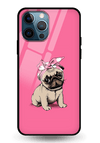 Pinky Pug Glass Case for iPhone 12 Pro