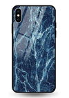 Blue Marble Glass Case for iPhone XS