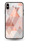 Vicaro Triangles Glass Case for iPhone XS