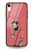 Beard Alone Glass Case for iPhone XR