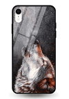 Winter Dog Glass Case for iPhone XR