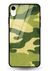 Camouflage Glass Case for iPhone XR