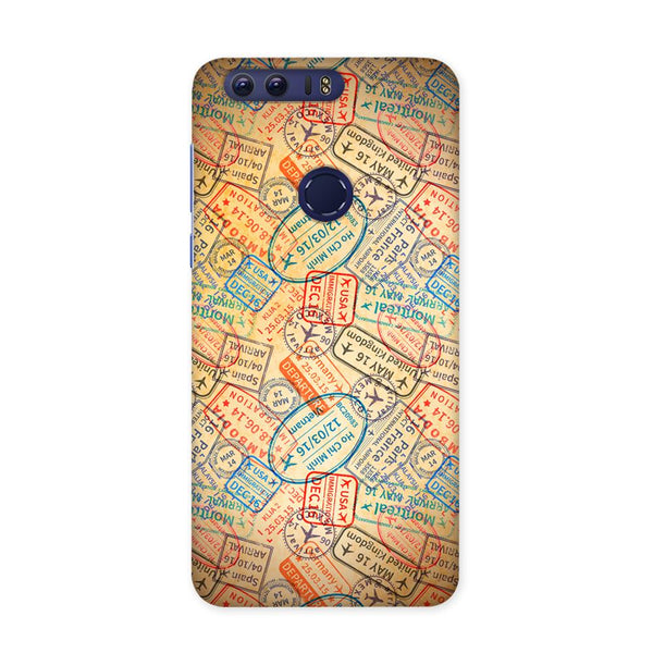 Travel Stamps 2 Case for Honor 8 Pro