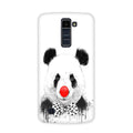 Panda With A Bow Case for  LG Q10