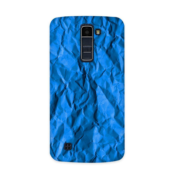 Crumpled Blue Case for  LG Q10