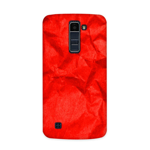Crumpled Red Case for  LG Q7