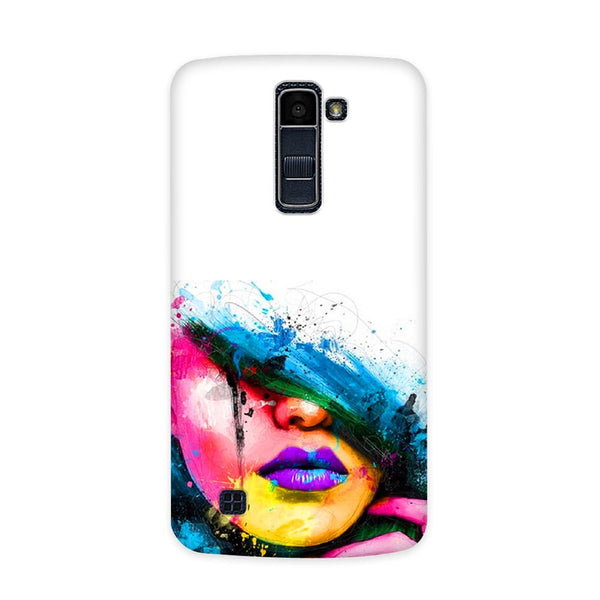 Purple Lips Case for  LG Q7