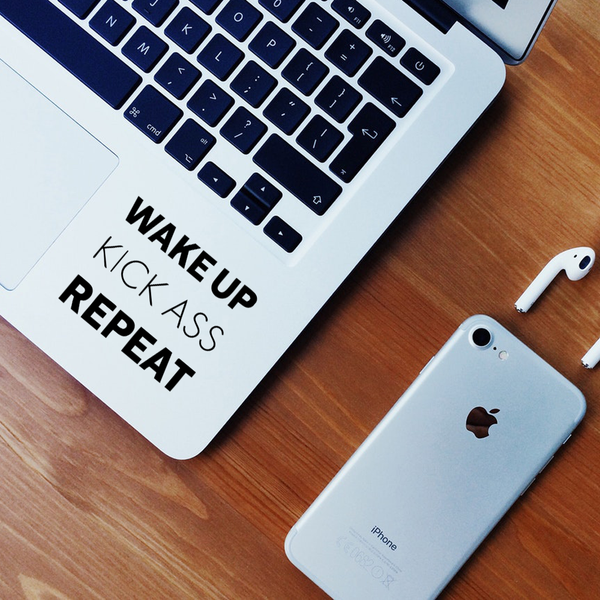 Wake up Laptop Decal