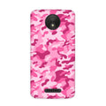 Pink Camouflage Case for Moto C Plus