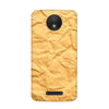 Crumpled Paper Case for Moto C Plus