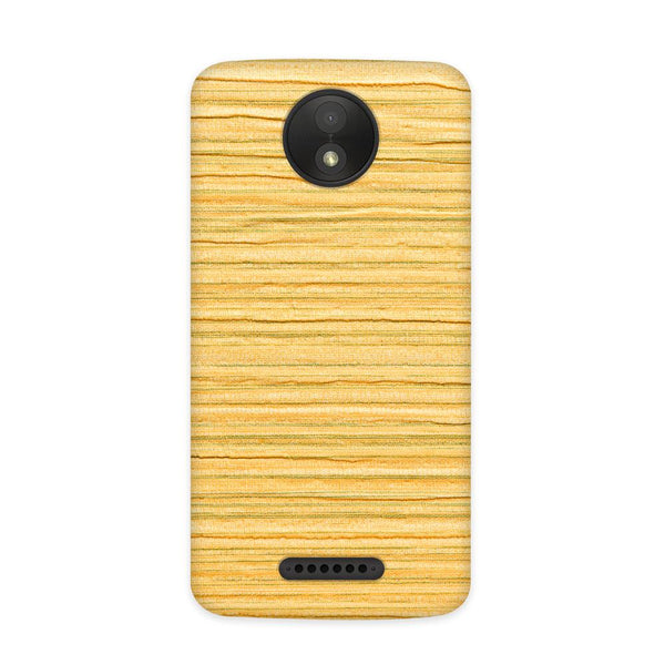 Sandy Wood Case for Moto C Plus