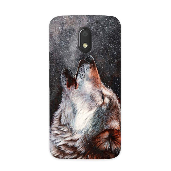 Winter Dog Case for Moto E3 Power