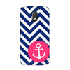 Navy Anchored Case for Moto E3 Power