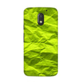 Crumpled Green Case for Moto E3 Power