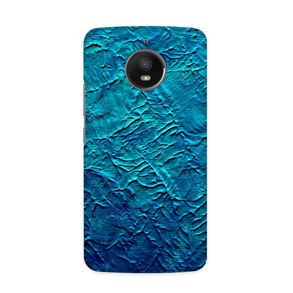Painted in Blue Case for  Moto E4 Plus