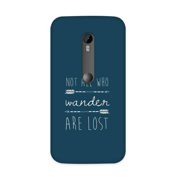 Not Lost Case for Moto G3