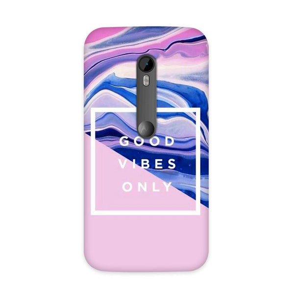 Good Vibes Only Case for Moto G3