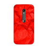 Crumpled Red Case for Moto G3