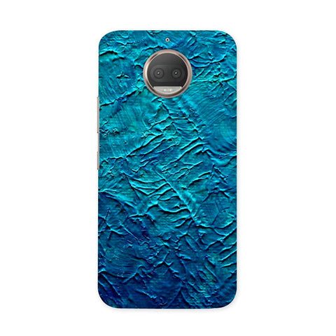 Painted in Blue Case for Moto G5S Plus