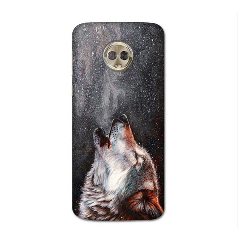 Winter Dog Case for Moto G6