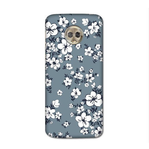 White Flower Case for Moto G6