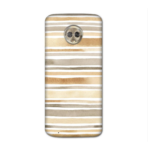 Waterpaint Stripes Case for Moto G6
