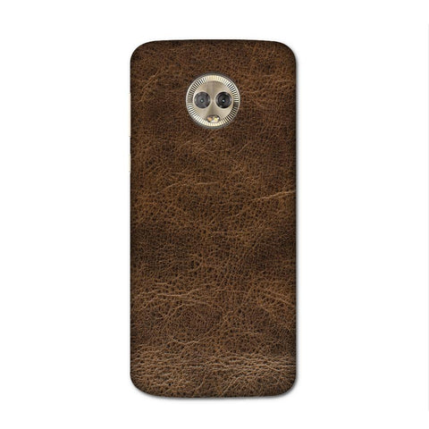 Brown Leather Texture Case for Moto G6