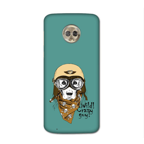 Wild Crazy Guy Case for Moto G6