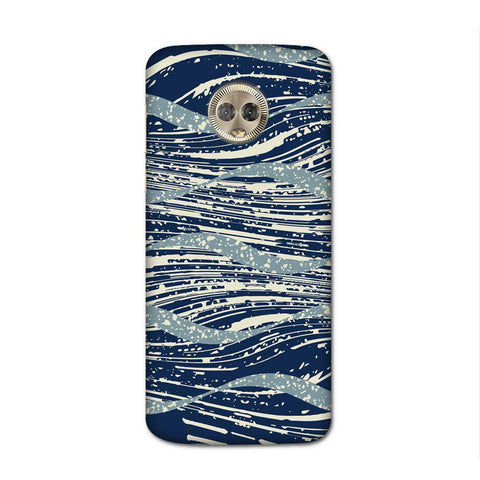 Wavey Blue Case for Moto G6