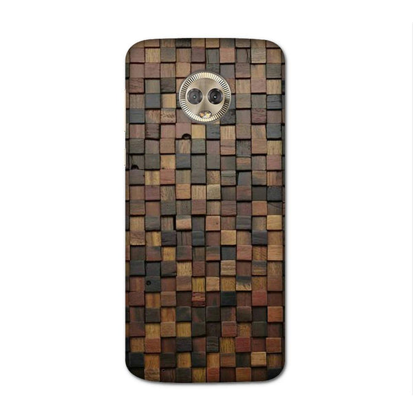 Wooden Blocks Case for Moto G6