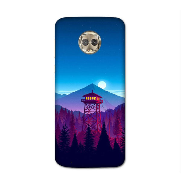 Moon And Mountains Case for Moto G6